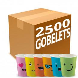 Gobelets Distributeur Automatique en Carton 15 cl - French Collection Emoticons - par 2500