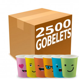 Gobelets Distributeur Automatique en Carton 15 cl - French Collection Emoticons - par 2500