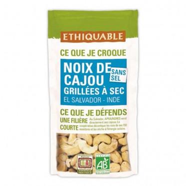 Fruits Secs Ethiquable Noix de Cajou grillées Sans sel - Bio - 40g