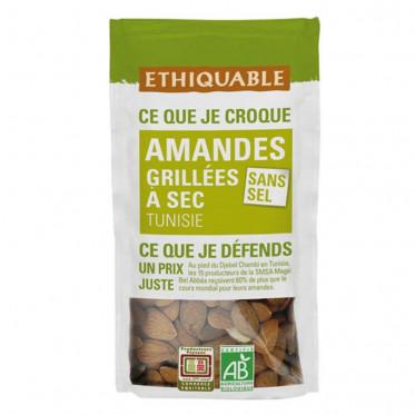 Fruits Secs Ethiquable Amandes grillées Sans sel - Bio - 40g