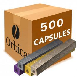 PACK Capsules Orbica pour Nespresso - 500 capsules + 200 sucres Offerts