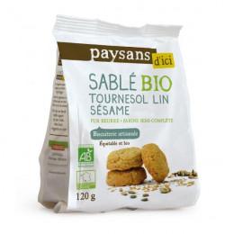 Biscuits Bio Ethiquable - Sablés tournesol lin sésame - 120g