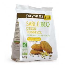 Biscuits Bio Ethiquable - Sablés citron graines de tournesol - 120g
