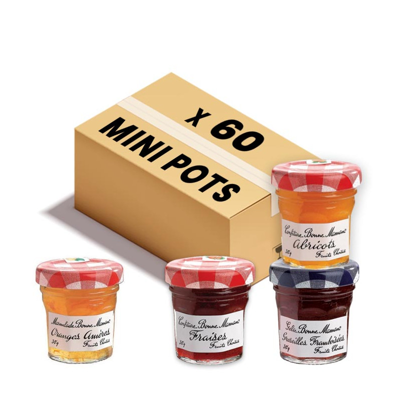 Assortiment Mini Confitures Bonne Maman Classique 4 Parfums 60 X 30 G