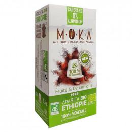 Capsules Nespresso Compatible Bio et compostable Café Moka Ethiopie - 10 capsules