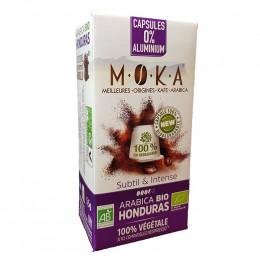 Capsules Nespresso Compatible Bio et compostable Café Moka Honduras - 10 capsules