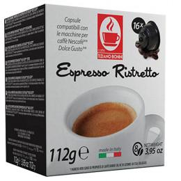 Capsule Dolce Gusto Compatible Caffè Bonini - Café Espresso Ristretto - 16 capsules