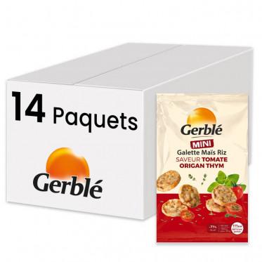 Galettes Maïs Riz - saveur Tomate Origan Thym - Gerblé - 14 paquets