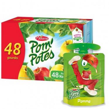 Compote de Pomme - Pom'Potes - Materne - 48 Gourdes