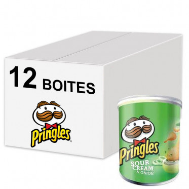 Biscuits Apéritif - Pringles Crème Oignons - Sour Creal & Onion 40g - 12 boîtes