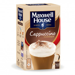 Café Gourmand Cappuccino Maxwell House - 10 sticks