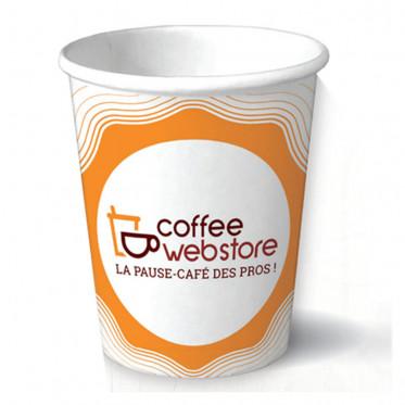Gobelet en carton recyclable et écologique - Coffee Webstore - 15 cl par 100