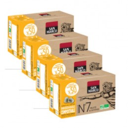 Capsules Nespresso compatible - biodégradable et compostable - N°7 Bio San Marco - Vrac 200 capsules