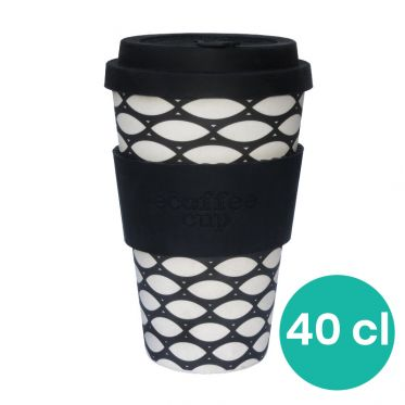 Mug en Bambou écologique, avec couvercle - Ecoffee Cup Basketcase- 40 cl
