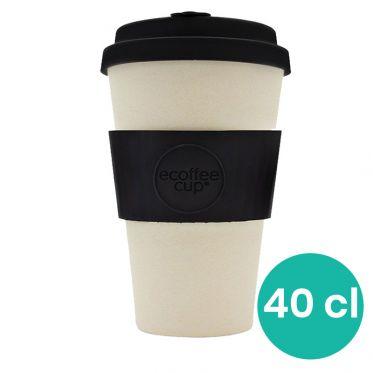 Mug en Bambou écologique, avec couvercle - Ecoffee Cup Black Nature- 40 cl
