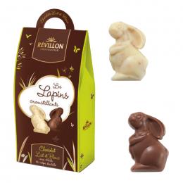 Assortiment de Lapins en Chocolat Blanc et Lait de Pâques - 150g - Révillon