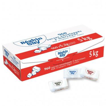 Petit Sucre Beghin-Say - 2 Morceaux de Sucre Enveloppés - 960 Pièces - 5 kg