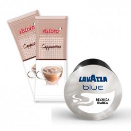Capsule Lavazza BLUE Bevanda Bianca + Cappuccino Ristora - 50 boissons