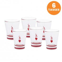 Tasse en verre Bialetti : Espresso 8 cl - par 6