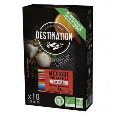 Capsules Nespresso compatible - Sélection Biodégradables et Bio - Destinatino Grand Comptoir - 10 capsules
