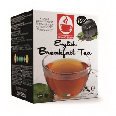 Capsule Dolce Gusto Compatible Caffè Bonini - Thé noir English Breakfast - 10 capsules