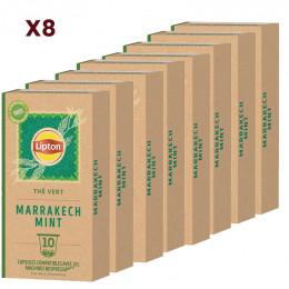 Capsule Nespresso Compatible Lipton Marrakech Menthe - 8 boites - 80 capsules