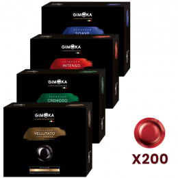 Capsule Nespresso PRO Compatible Gimoka Pack Découverte - 4 boites - 200 capsules