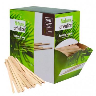 Touillette (spatule) en bois 110 mm Compostable - Boite distributrice - par 5000