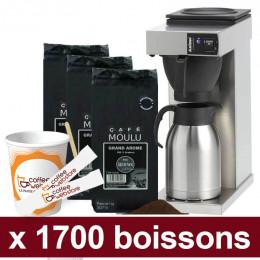 """Machine Excelso T avec Café Moulu Café de Paris : Pack Pro """"Large"""" - 1700 boissons"""