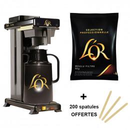 Pack Cafetière filtre Pro L'Or Conférence + 40 doses de café moulu + 200 spatules