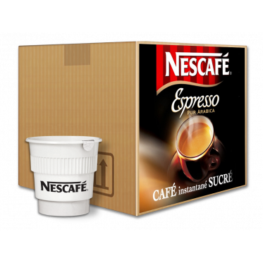 Café Gobelets Pré-dosés au carton Nescafé Espresso Sucré - 300 Boissons
