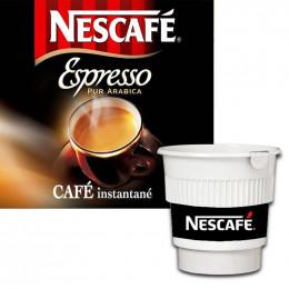 Café Gobelets Pré-dosés Nescafé Espresso Non Sucré : 20 boissons