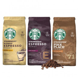 Pack découverte Café en grains Starbucks ® - 3 x 200 gr