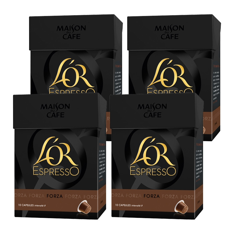 capsules nespresso compatible l 39 or expresso forza grand choix de capsule nespresso compatible. Black Bedroom Furniture Sets. Home Design Ideas