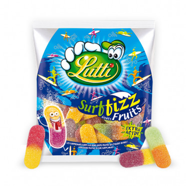Bonbon : Lutti Surffizz aux fruits - 100 gr