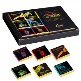 Coffret Voisin Grandes Origines chocolat noir - 6 parfums - 36 carrés - 180 gr
