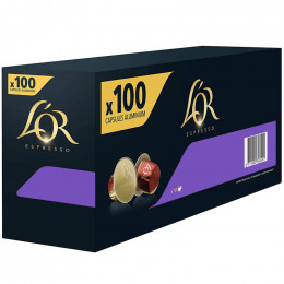 Capsule Nespresso Compatible Café L'Or Espresso Lungo Profondo - 10 boîtes - 100 capsules