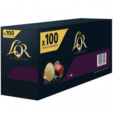 Capsule Nespresso Compatibles L'Or Espresso Supremo - 10 boîtes - 100 capsules