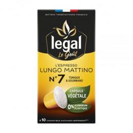 Capsules Nespresso compatible Végétale Legal Lungo Mattino N°7 - 10 capsules