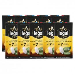 Capsules Nespresso compatible Végétale Legal Lungo Mattino N°7 - 10 boîtes - 100 capsules