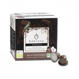Capsules Nespresso compatible - biodégradable et compostable - Kabioca Expresso n°7 - 50 capsules