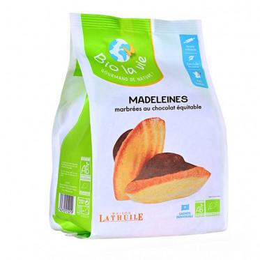 Biscuit Madeleine Bio La Vie marbrées au chocolat emballées individuellement - 9 Madeleines