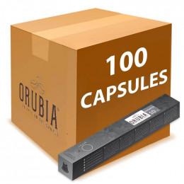 Capsules Nespresso Compatibles Orbica Ristretto - 10 tubes - 100 capsules