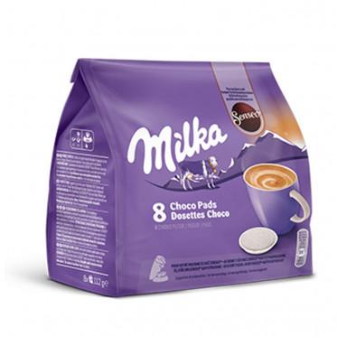 Dosettes Senseo Compatibles Milka Chocolat au Lait : 7 tasses