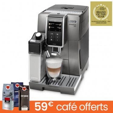 Machine à café en grains DeLonghi Dinamica FEB 3595.T - Titane