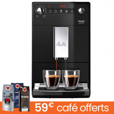 Machine à café en grains Melitta Purista F230-102- Noire