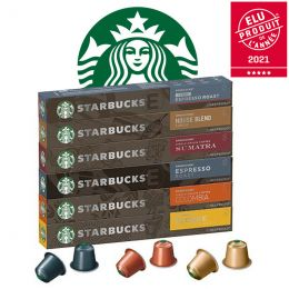 Pack découverte capsule Starbucks ® by Nespresso ® - 60 capsules
