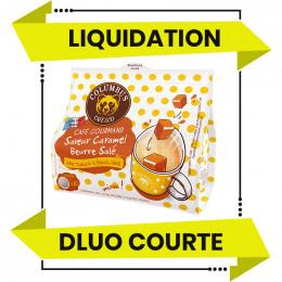 DESTOCKAGE - Dosette Senseo compatible Columbus Café Saveur Caramel Beurre Salé - 10 dosettes - DLUO 01/06/2021