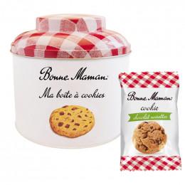 Cookie Bonne Maman Chocolat Noisettes - Boîte métal de 15 cookies emballés individuellement