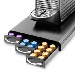 Range Dosettes pour Capsules Nespresso® 3 tiroirs : 60 capsules - Coloris Noir